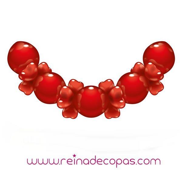 Guirnaldas de Globos con corazones rojos. Para San Valentin, Bodas, Aniversarios, o cualquier otra ocasión que lo merezca. http://www.reinadecopas.com/es/globos/319-guirnaldas-de-globos.html
