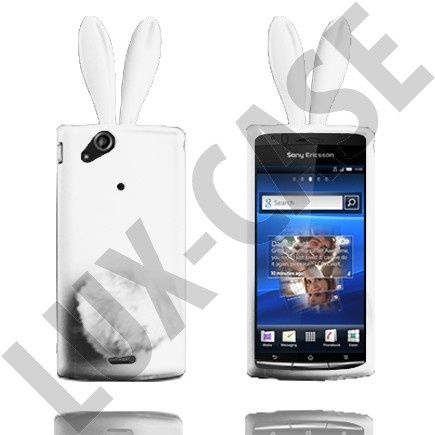 Sony Ericsson Xperia Arc valkoiset pupu suojakuoret!