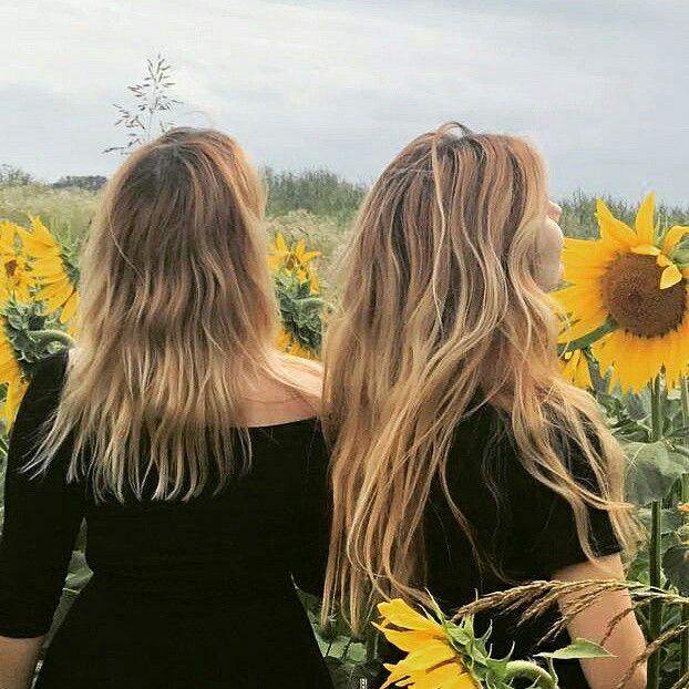 #aesthetic #ombrehair #sunflower #summer