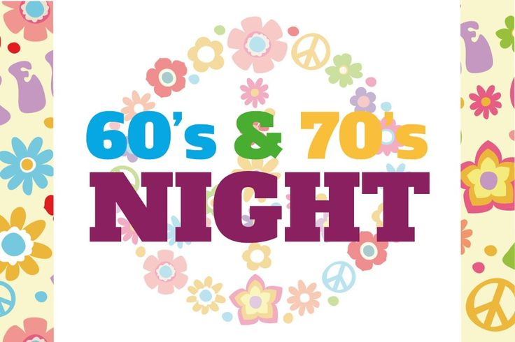 60's & 70's NIGHT - Main heading and logo design for 60's & 70's Night for the Spring Party hosted by ENABLE's Cumbernauld Branch. #logo #branding #identity #1960s #1970s #Spring #Party