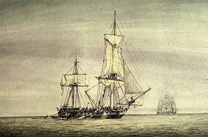 The USS Constellation vs La Vengeance, or the Action of 1 February 1800, was a single-ship action fought between frigates of the French Navy and the United States Navy during the Quasi-War. The battle resulted in the American frigate USS Constellation severely damaging the French frigate La Vengeance and forcing her to flee.  In 1798, an undeclared war had begun between the United States and France due to French seizures of American merchantmen