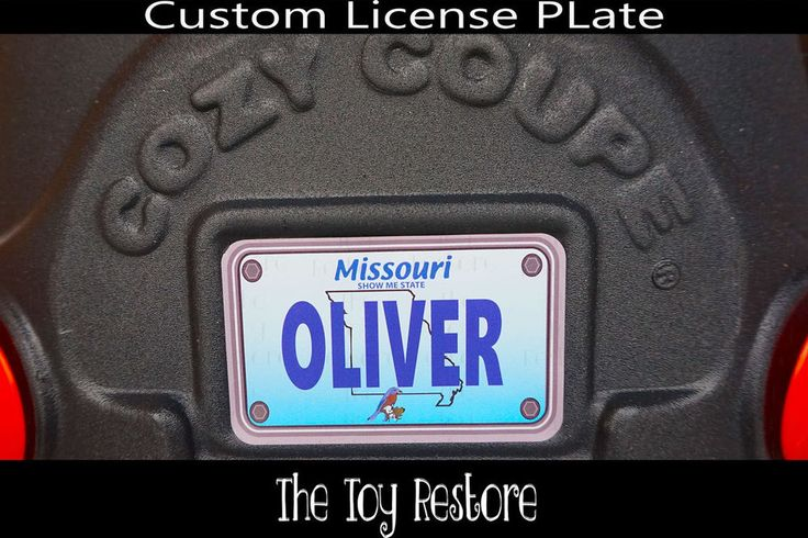 Replacement Decal fits Little Tikes Cozy Coupe #Missouri Custom Number Plate #TheToyRestore #TheToyRestore #LittleTikes #CozyCoupe #LicensePlate #NumberPlate #Vanity #CozyCoupeRedo #CozyCoupeMod #CozyCoupeMakeover