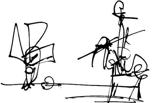 """""""Don Quijote de la Mancha"""", dibujos a tinta china / técnica mixta sobre papel, 30x20, Antonio Saura, 1987."""