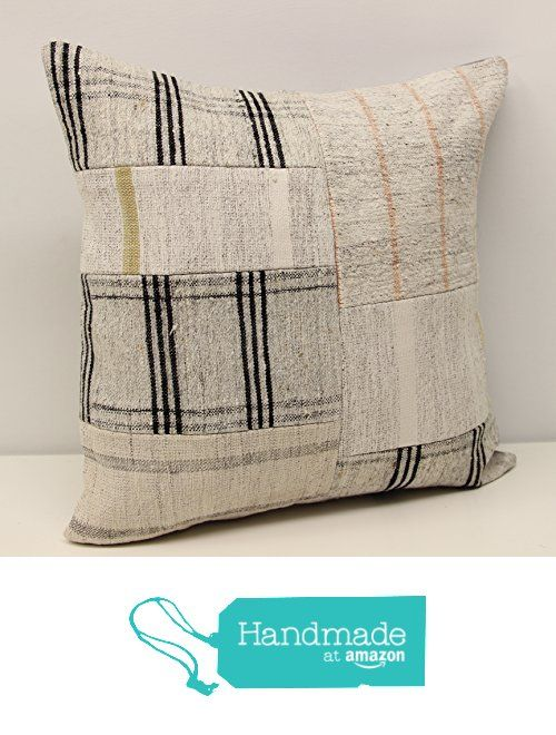 Patchwork kilim pillow cover 18x18 inch (45x45 cm) Handmade Kilim pillow cover Turkish pillow Accent Hand woven Cushion Cover Throw pillow from Kilimwarehouse https://www.amazon.com/dp/B07464GJ2H/ref=hnd_sw_r_pi_dp_gArDzb13K60JB #handmadeatamazon