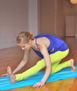 Recently became obsessed with runner's lunge. Awesome hamstring stretch.