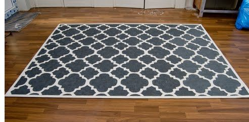 paint your own ikea rug! Love the pattern