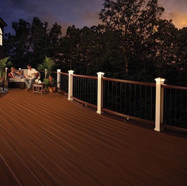 led deck lighting ideas. Flat Top LED Post Cap Light By Trex Lighting | Led, And Deck Led Ideas