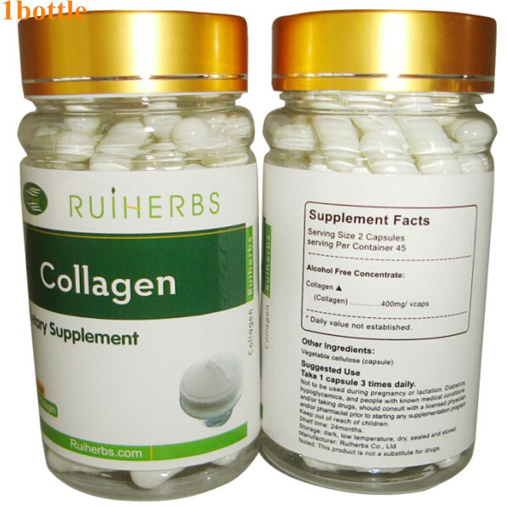 1Bottle Collagen Capsule 500mg x 90pcs Pure Fish Collagen Anti-Aging Beauty free shipping