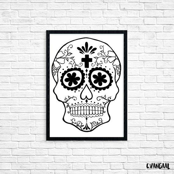 Foil Sugar Skull Print