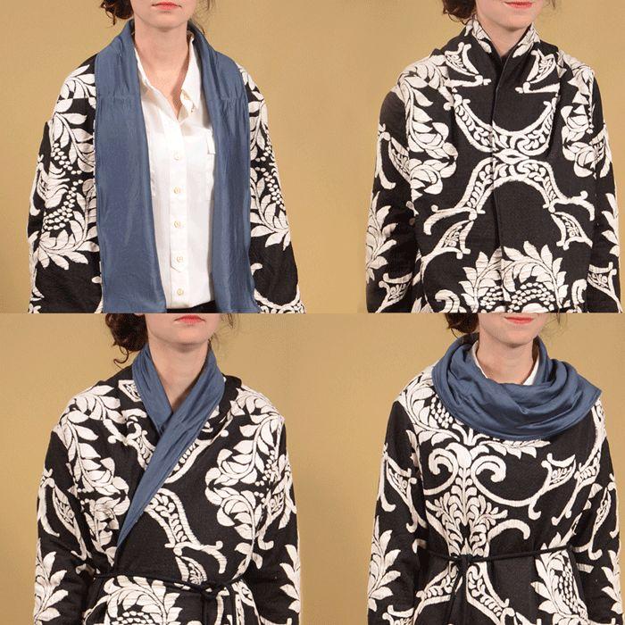 fronts of garment worn different ways. Fashion design challenge www.duellingdesigns.com