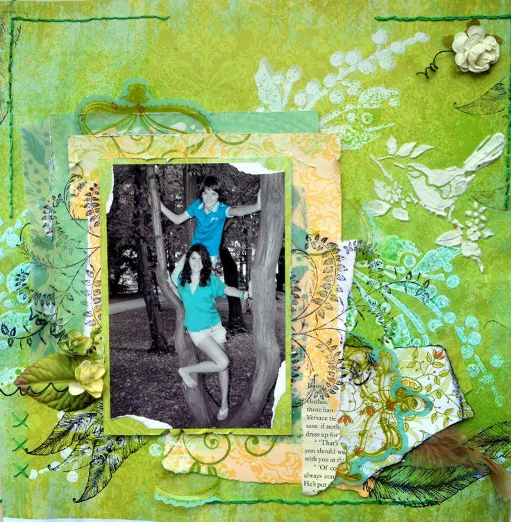 Singing birds and Magenta challenge http://bellaideascrapology.blogspot.ca/