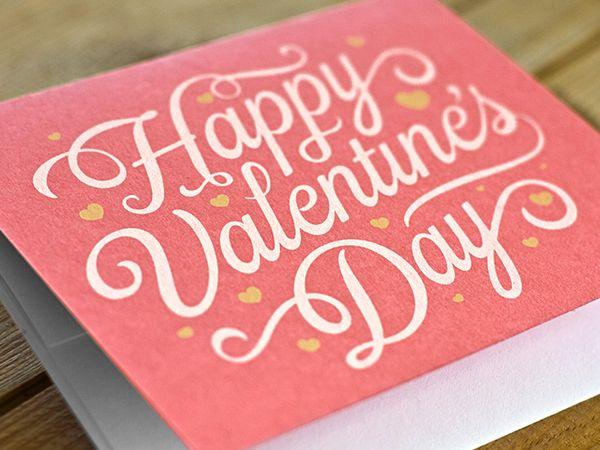 """Valentine"" in Typography"