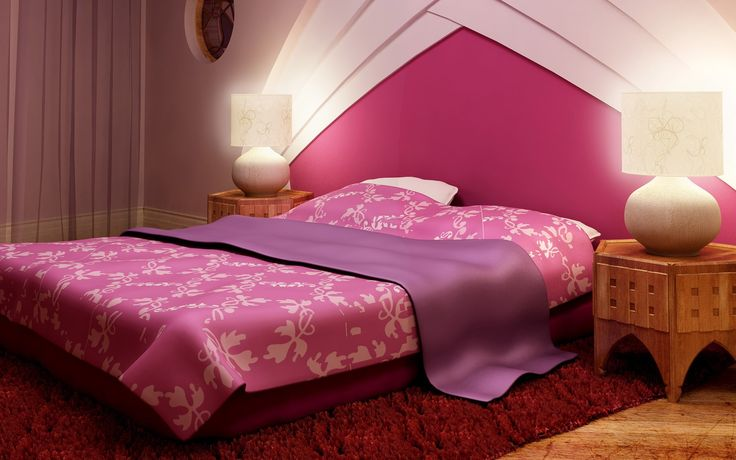 Bedroom: Sweet Couple Bedroom Ideas With Pink Bed Cover
