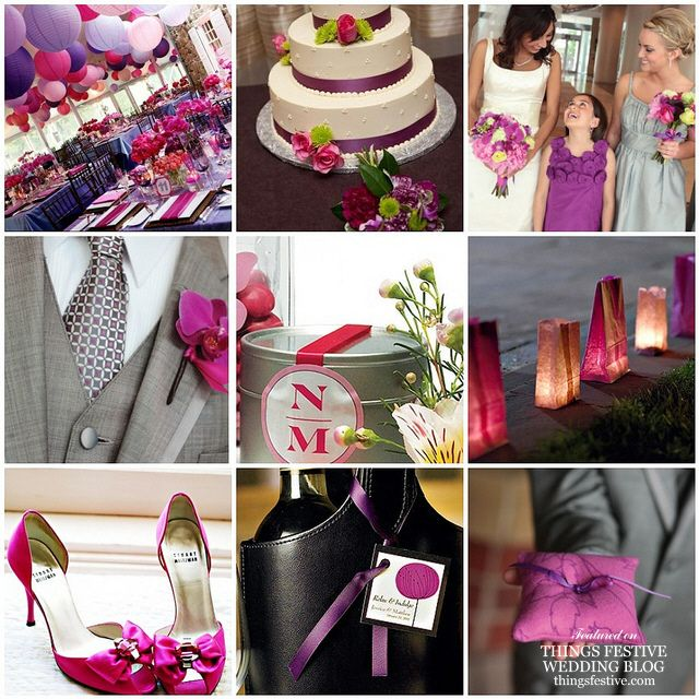 This Lovely Purple And Fuchsia Wedding Theme Is Absolutely Vibrant You Can T Help
