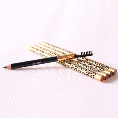 Stylish Leopard Pattern Double-End Waterproof Smudge-Proof Eyebrow Pencil with Brush #jewelry, #women, #men, #hats, #watches, #belts, #fashion