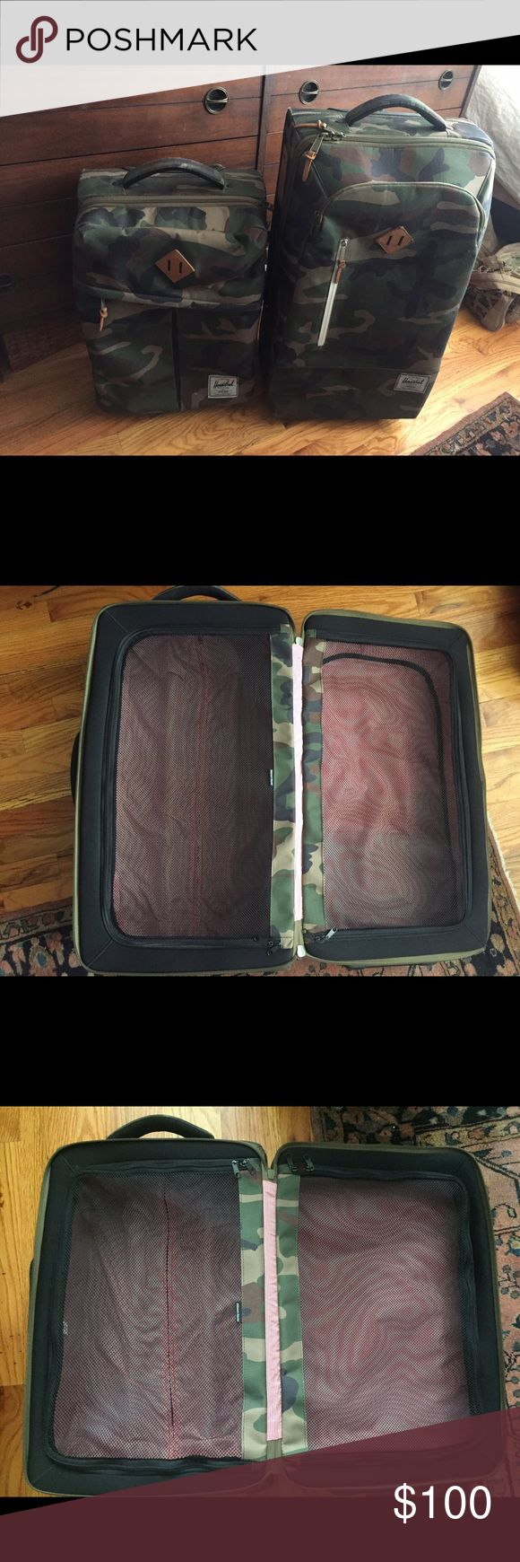 Herschel Supply Company Rolling Luggage Herschel Supply Company Camouflage Rolling Luggage - Small and Large Herschel Supply Company Bags Travel Bags