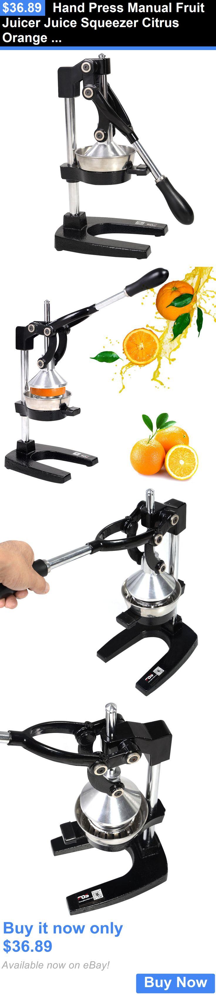 appliances: Hand Press Manual Fruit Juicer Juice Squeezer Citrus Orange Lemon New BUY IT NOW ONLY: $36.89