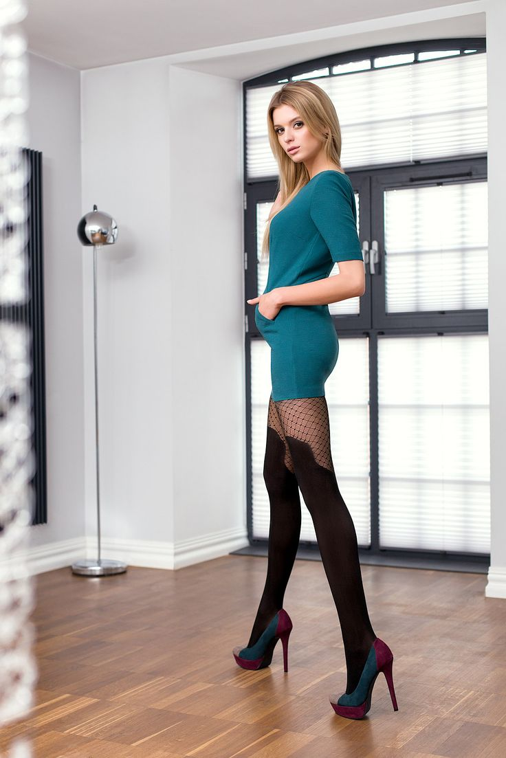 VELIA 03 #tights #patterned #fashion #legs #legwear #stockingsimitation #black #sexy