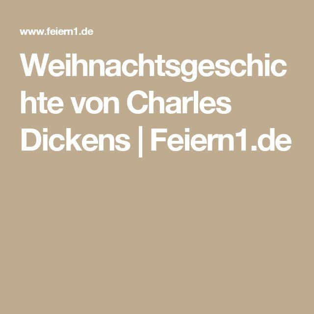 Weihnachtsgeschichte von Charles Dickens | Feiern1.de