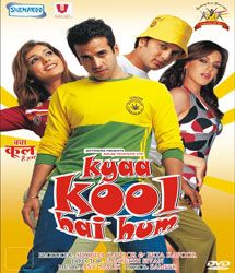 http://www.clickoncart.com/Kyaa-Super-Kool-Hain-Hum-DVD starcast 	: 	Ritesh Deshmukh, Tusshar Kapoor, Neha Sharma, Sarah Jane Dias, Anupam Kher director 	: 	Sachin Yardi producer 	: 	Ekta Kapoor, Shobha Kapoor music_director 	: 	Sachin-Jigar, Meet Bros Anjjan genre 	: 	Comedy format 	: 	DVD label 	: 	Shemaroo language 	: 	Hindi year 	: 	2012 Discs 	: 	1 subtitle 	: 	English region 	: 	Region Free