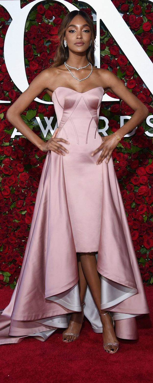 Jourdan Dunn in Zac Posen at 2016 Tony Awards