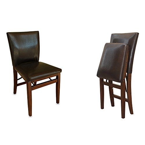 Marvelous Dining Chair Faux Leather Folding Dark Brown Small Space Gmtry Best Dining Table And Chair Ideas Images Gmtryco