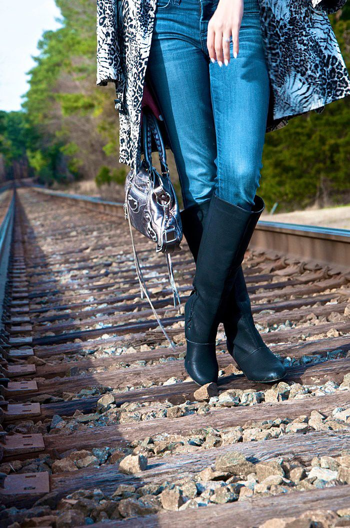 NOT RATED BOOTS c/o NAUGHTY MONKEY DIVANY TRENCH COAT BALENCIAGA FIRST BAG . Just a sneak peek from a new shoot. These boots are killer and they go with EVERYTHING! :)