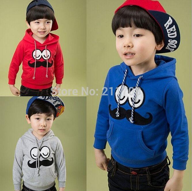 Розничные дети капюшоном осенне-летней мальчиков одежда одежда с длинным рукавом толстовки детской одежды красное пальто 2г 3г