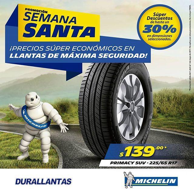 Promoción de Semana Santa #Durallantas #Michelin #Panamá  Súper Descuentos de hasta un 30%  Aprovecha esta promoción de semana santa para que cambies tus llantas.  Estamos ubicados:  #Callle50 #VillaCáceres #12deOctubre #Coronado  #CalidadyServicioSobreRuedas #sandiegoconnection #sdlocals #coronadolocals - posted by Durallantas Panama https://www.instagram.com/durallantaspanama. See more post on Coronado at http://coronadolocals.com