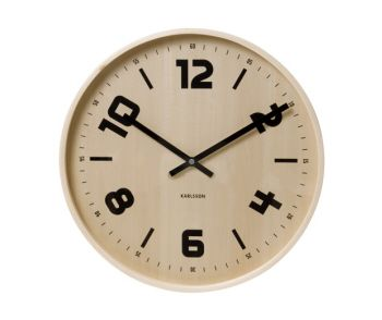 Present Time - Wall Clock Pure Wood