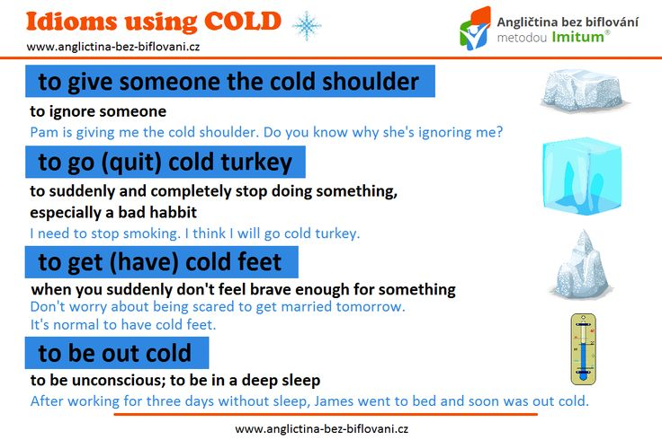"""Představujeme vám několik idiomů, které obsahují slovíčko """"cold."""" Jaké počasí je dnes u vás? IS IT COLD? ❄   #idioms #cold"""