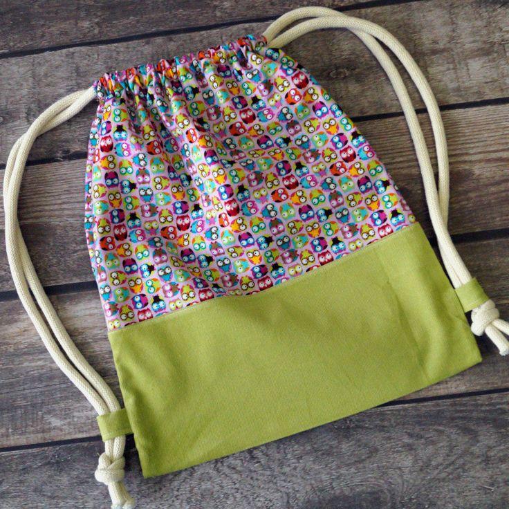 Turnbeutel, Rucksack, Kindergartentasche, Tragetasche für Kinder mit Eulen von LittleVIP2015 auf Etsy