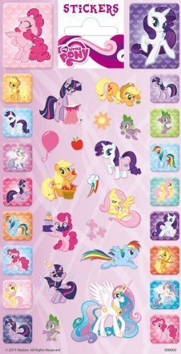 My Little Pony Glitter Finished Childrens Stickers Party Bag Fillers/Favours @ niftywarehouse.com #NiftyWarehouse #MyLittlePony #Cartoon #Ponies #MyLittlePonies