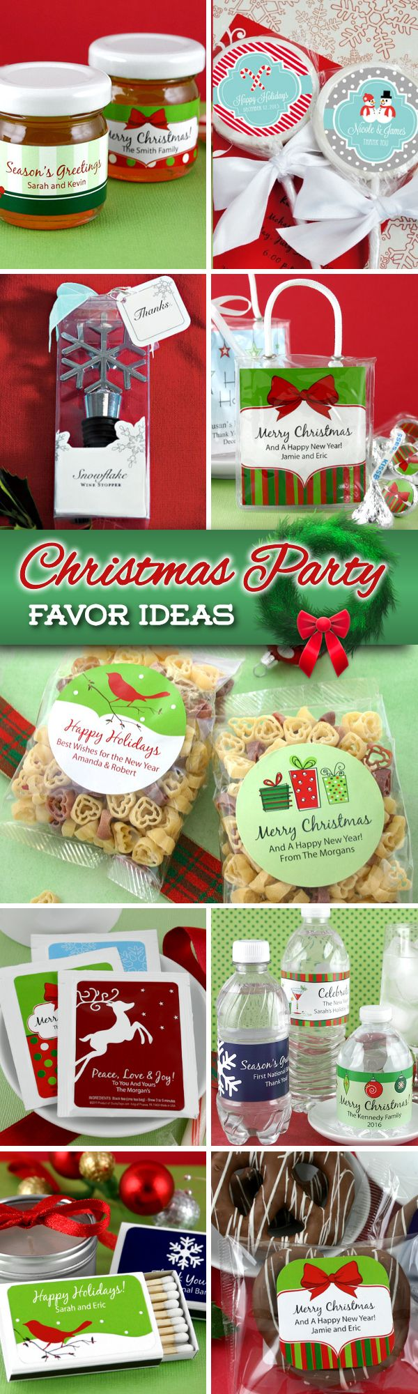 Throwing a big Christmas party this year?  Maybe you are having a corporate party or a neighborhood get-together....either way, send your guests home with a favor that they'll actually enjoy receiving.  Check out nearly 100 Christmas party favor ideas.....