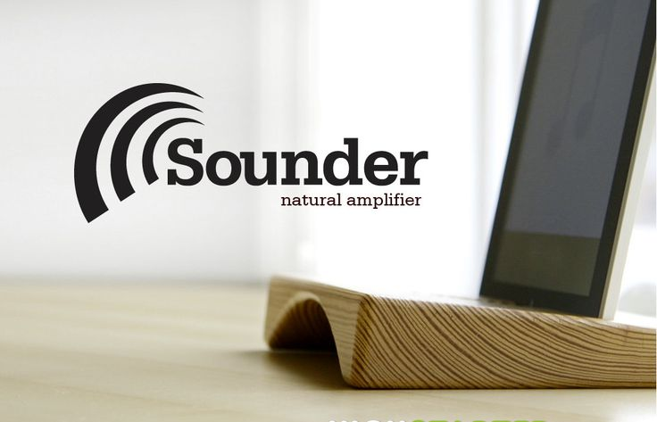 Sounder, the wooden ipad stand / ipad dock and natural amplifier that doubles the volume. $59.00, via Etsy.