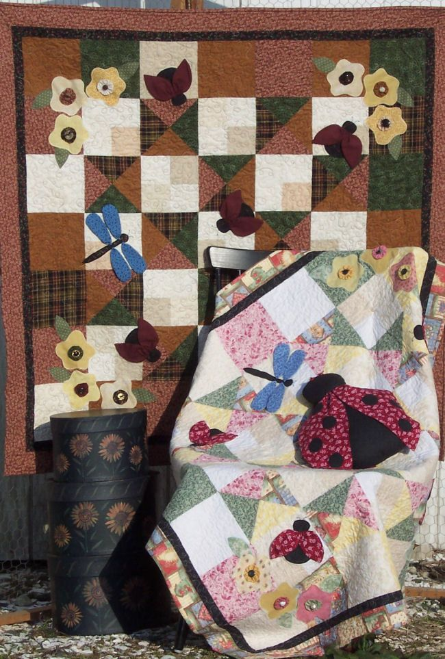 Ladybug Garden Quilt And Pillow Pattern Baby Quilts