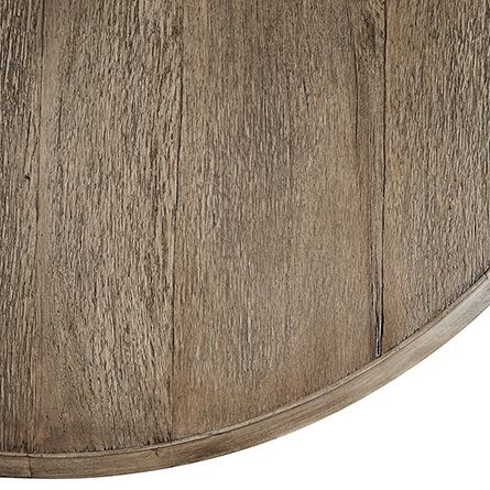 """Carmen 60"""" Round Dining Table With Hour Glass Base in Grey Patina"""