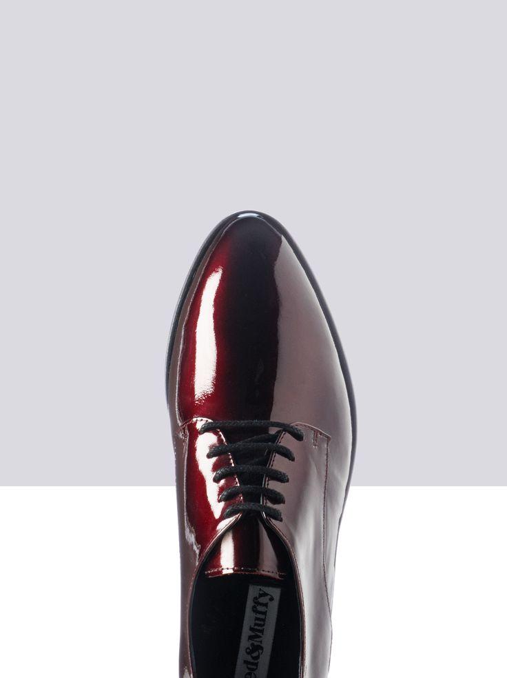 Zoom - Veter schoenen in Zwart Lakleer door Ted&Muffy