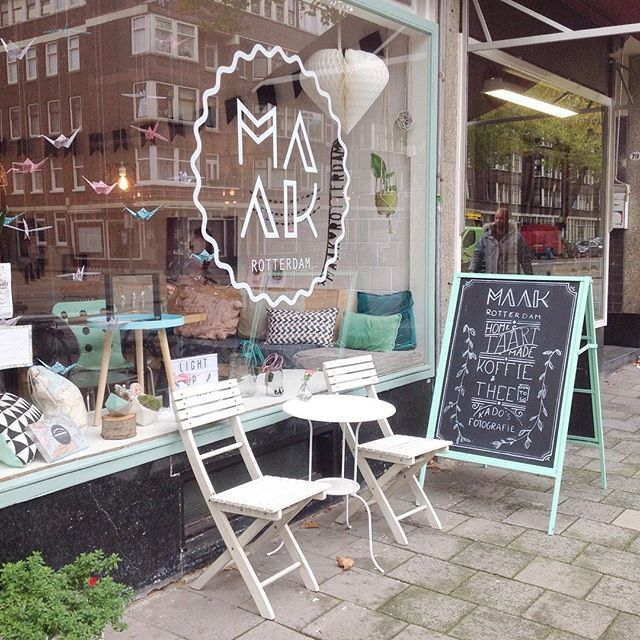 Yesterday I visited this cute shop in Rotterdam @maak_rotterdam a place where you can shop for home accessories and gifts and also enjoy a nice cup of tea with homemade cake !