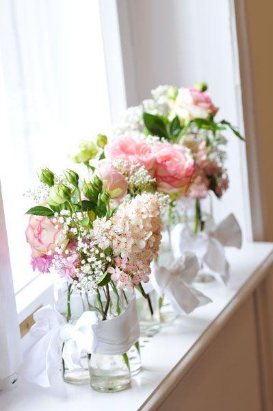 Blumendeko Vintage Hochzeit