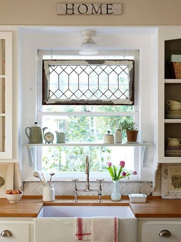 I think the shelve in the window adds a fun touch to the room.                                                                                                                                                                                 More