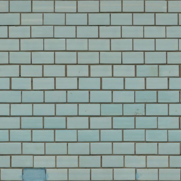 Robin S Egg Blue With Greyish Brown Grout Perfect For