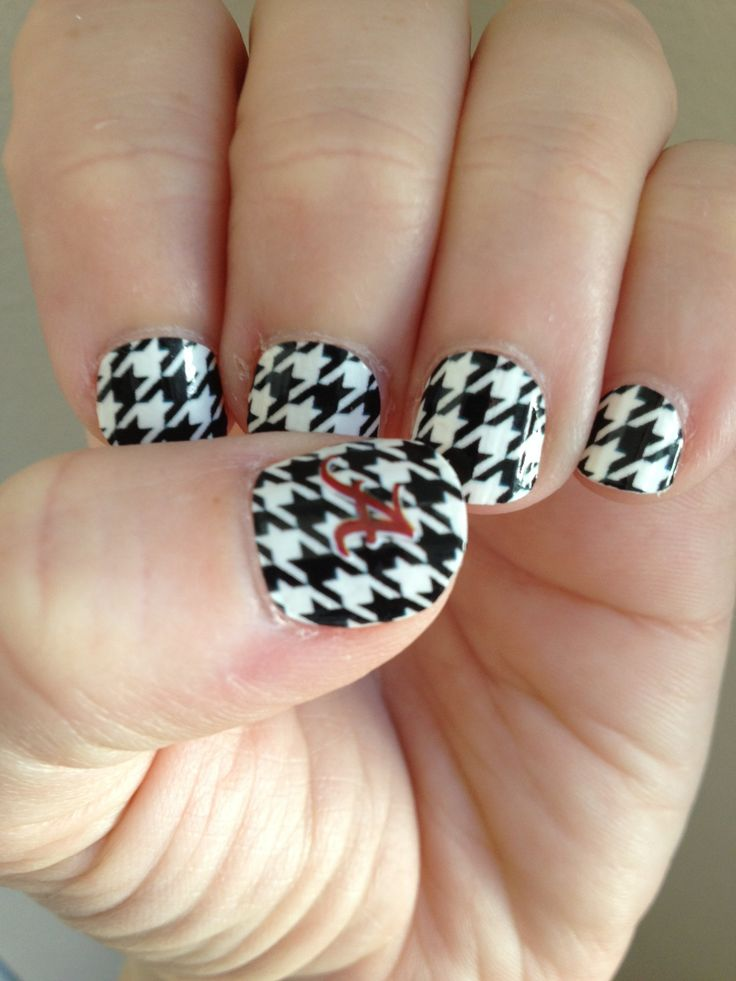 Alabama nails. Roll Tide! - 21 Best Alabama Fingernail Designs Images On Pinterest