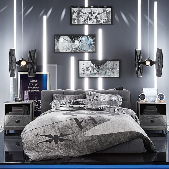 Star Wars(TM) Space Chase Duvet Cover, Full/Queen, Charcoal ...