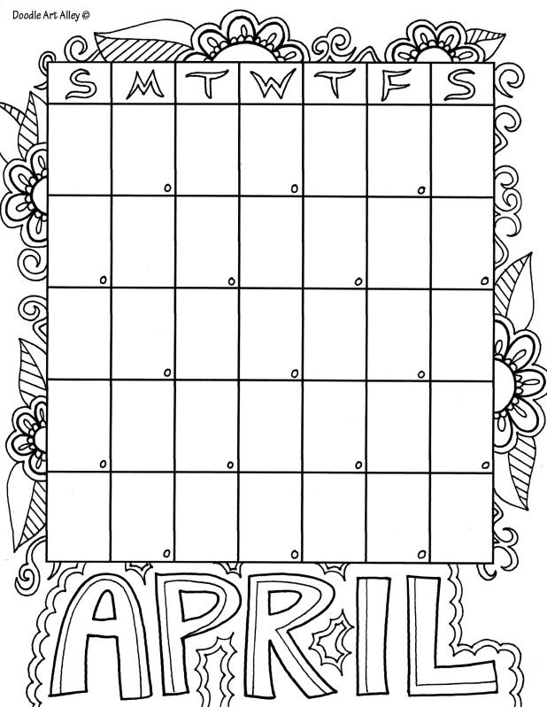 april coloring pages printable - 12 best month coloring images on pinterest monthly