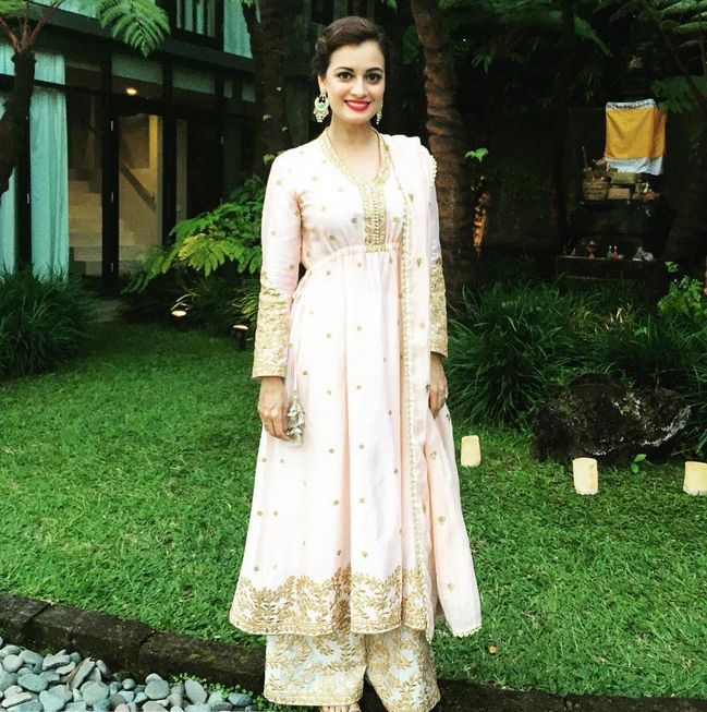 The lovely Dia Mirza in our anarkali,Dress specially for an eid