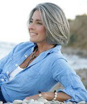 Gorgeous chin length graying bob with lots of body - Ladies IF you got this...WORK this! So So chic!