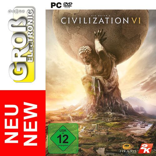 Sid Meier's Civilization VI 6 PC Spiel DVD BOX DE EU NEU OVP Strategiespiel Game