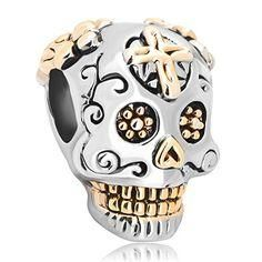 nice Skull Cross Charm Dia De Los Muertos Jewelry Sale Cheap Beads Fit Pandora Charms Bracelet Gifts