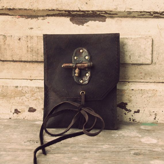 Modern handmade hipbag with antique lock